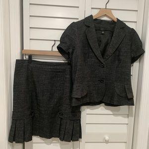 Dark Gray AGB suit blazer and skirt set 10P